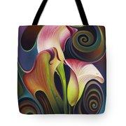 Dynamic Floral 4 Cala Lillies Tote Bag