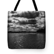 Dynamic Storm Over The Marsh Tote Bag