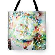 E. E. Cummings - Watercolor Portrait Tote Bag