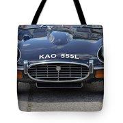 E Type Jaguar V12 Tote Bag
