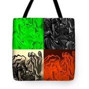E Vincent Quad Colors Tote Bag