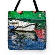 E17 Reflections - Lyme Regis Harbour Tote Bag