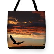 Eagle At Sunset Tote Bag