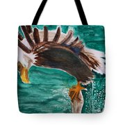 Eagle Fishing Tote Bag