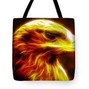 Eagle Glowing Fractal Tote Bag