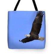 Eagle In Flight Tote Bag