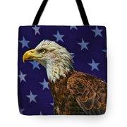 Eagle In The Starz Tote Bag
