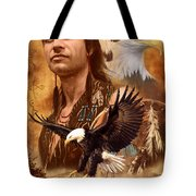 Eagle Montage Tote Bag