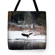 Eagle On The Shoreline Tote Bag