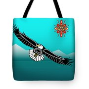 Eagle Over Olympics Tote Bag