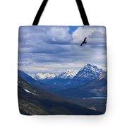 Eagle Over Peyto Lake Tote Bag