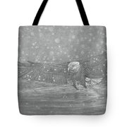 Eagle Over Water Tote Bag