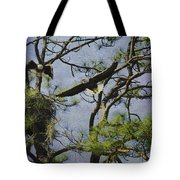 Eagle Pair And Nest Tote Bag