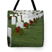 Eagle Point National Cemetery At Christmas Tote Bag