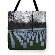 Eagle Point National Cemetery In Winter 1 Tote Bag