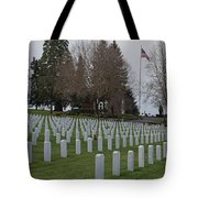 Eagle Point National Cemetery In Winter 2 Tote Bag