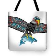 Eagle Salmon Totem Tote Bag