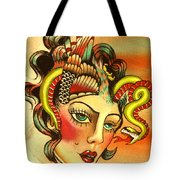Eagle/snake Hat Tote Bag
