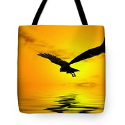 Eagle Sunset Tote Bag