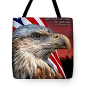 Eagle With Pledge Allegiance Tote Bag