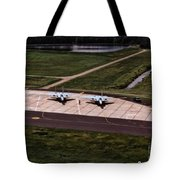 Eagles On The Ramp Tote Bag