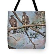Eaglets In Oil Tote Bag