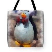 Ear Muff Penguin Photo Art Tote Bag