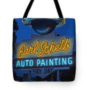 Earl Scheib Neon Bev Hills-1 Tote Bag