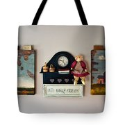 Early American Collage Tote Bag