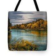 Early Autumn Along The Androscoggin River Tote Bag