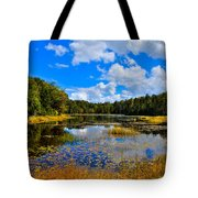 Early Autumn At Fly Pond - Old Forge New York Tote Bag