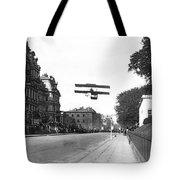Early Biplane Flight Tote Bag