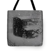 Early Blizzard At The Old Homestead Tote Bag