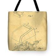 Early Computer Mouse Patent Yellowed Paper Tote Bag