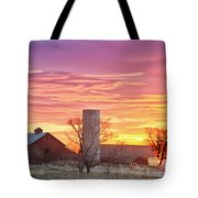 Early Country Morning Sunrise Tote Bag