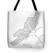 Early Dawns Light On Fall Flowers Bw Tote Bag