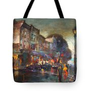 Early Evening In Main Street Nyack Tote Bag