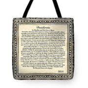 Early Gothic Style Desiderata Tote Bag