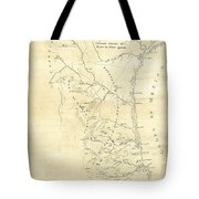 Early Hand-drawn Southern Texas Map C. 1795 Tote Bag