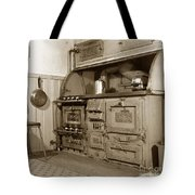 Early Kitchen With A Gas Stove 1920 Tote Bag