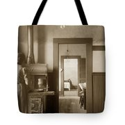 Early Kitchen With A Wood Kitchen Stove Circa 1906 Tote Bag