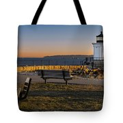 Early Morning At Bug Lighthouse Tote Bag