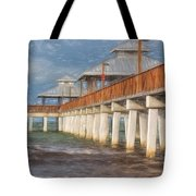 Early Morning At Fort Myers Beach Tote Bag