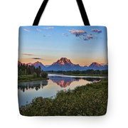 Early Morning At Oxbow Bend Tote Bag