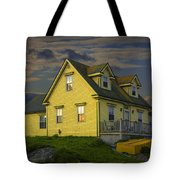 Early Morning At Peggys Cove In Nova Scotia Canada Tote Bag
