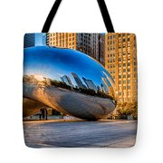 Early Morning Bean In Chicago Tote Bag