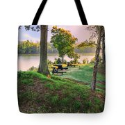 Early Morning Cannons Tote Bag