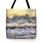 Early Morning Frost Tote Bag