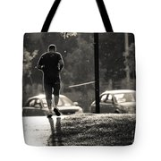 Early Morning Jog Tote Bag