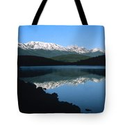 Early Morning Mountain Reflection Tote Bag
